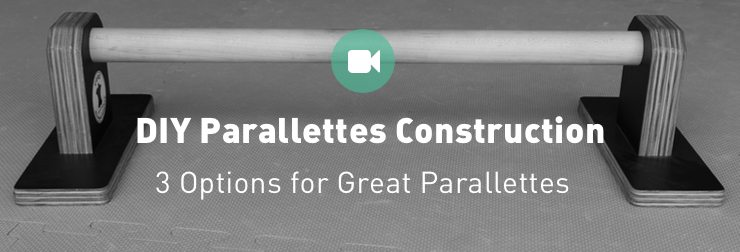 How to DIY Parallettes Bars: Wood, PVC